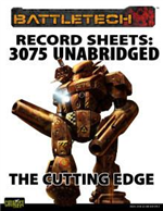 Record Sheets: 3075 Unabridged - The Cutting Edge