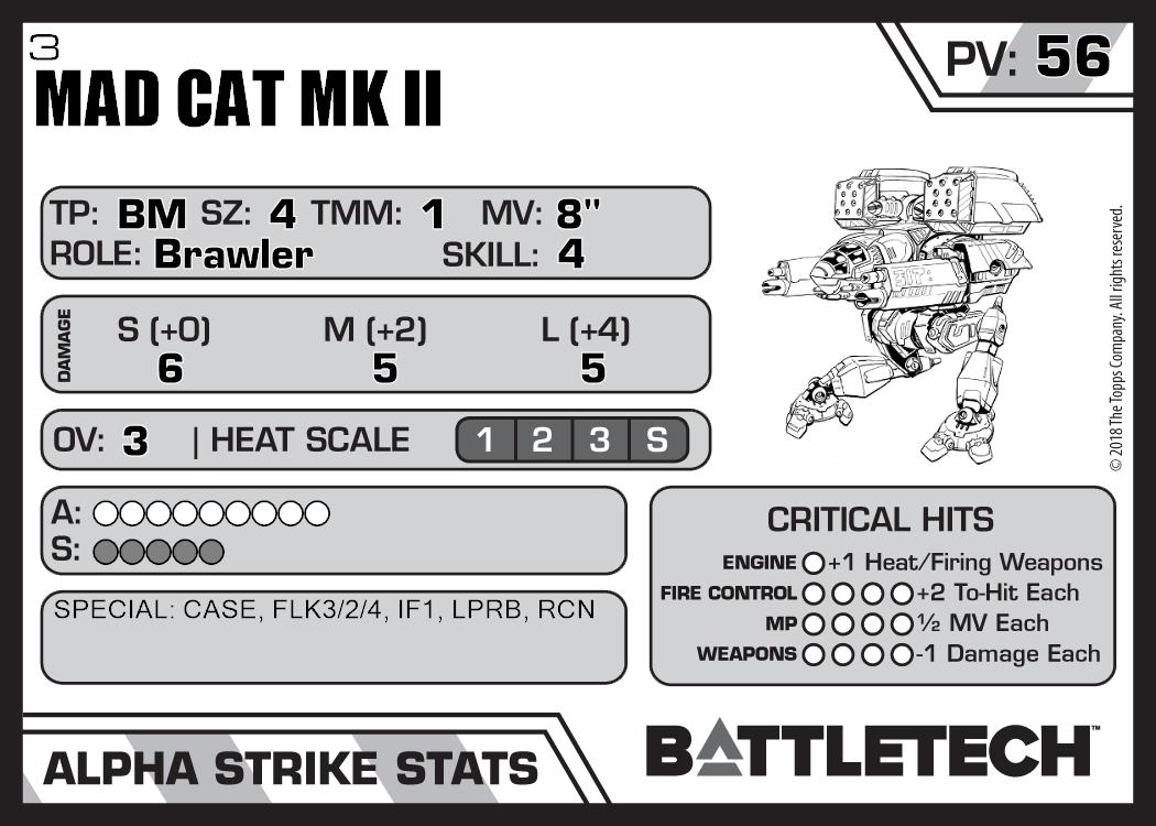 Mad Cat Mk Ii 3 Master Unit List 6367
